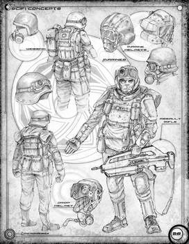 Space Marine Concepts and equipment: Page 26