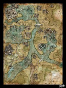 Dnd map: The Sunken City