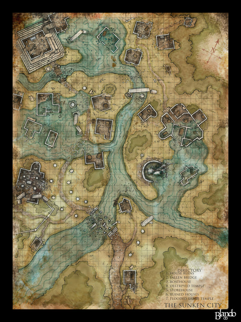 Dnd Map: The Sunken City By Stormcrow135 On DeviantArt