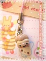 Cream Puff Phone Charm by shirokuro-chan