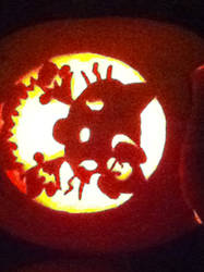 Zombie Hello Kitty Pumpkin by shirokuro-chan