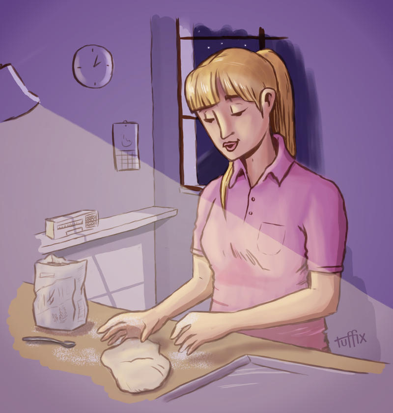 Baking at 2 am by tuffix
