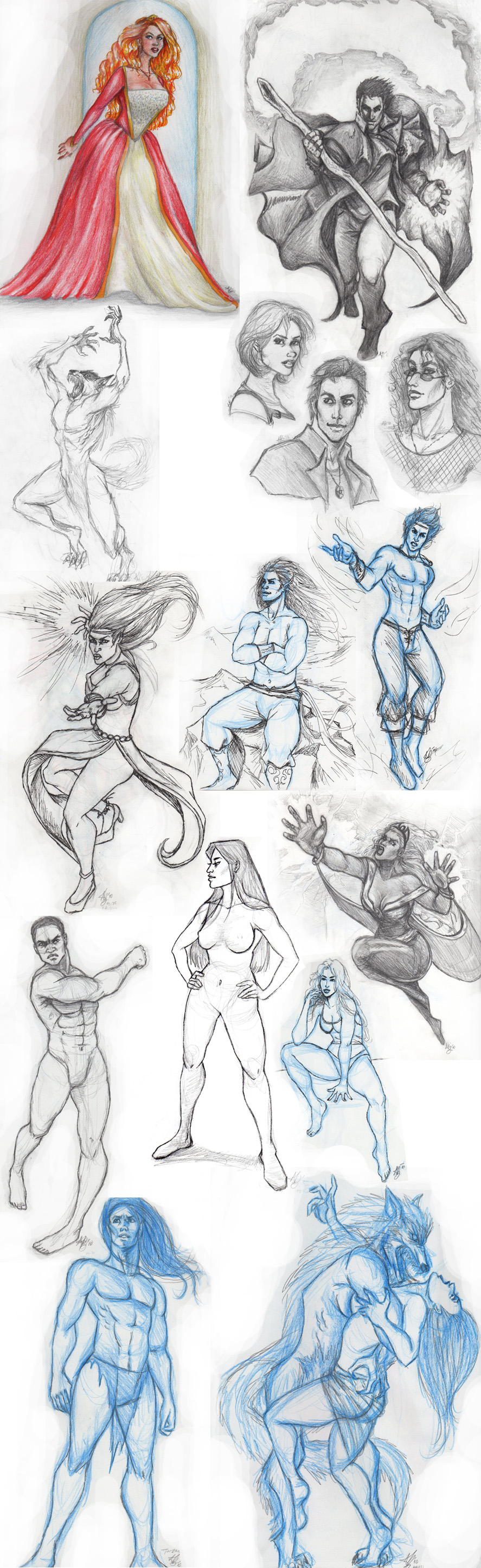 August Sketches 2010 by ReddEra