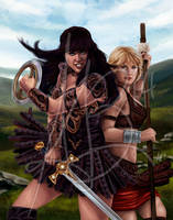 Xena and Gabrielle by ReddEra