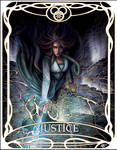 Tarot card Justice: Egwene by ReddEra