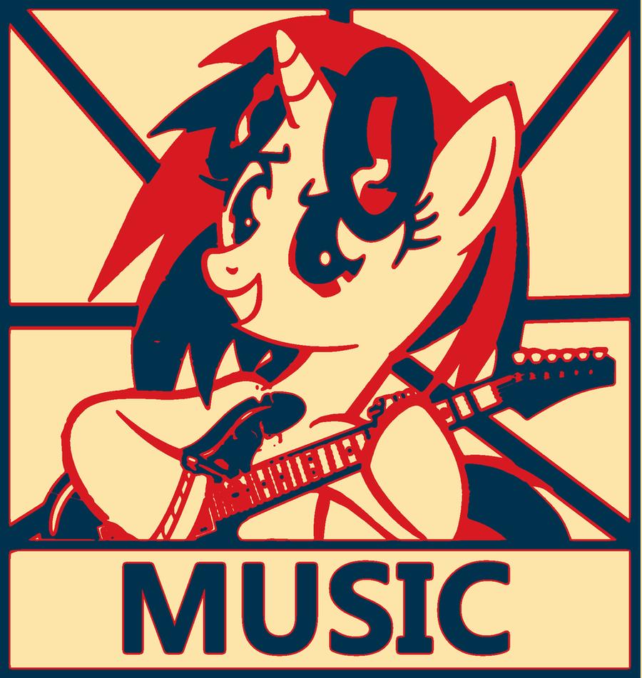 Vinyl poster Obama Style by MusicPulsePony