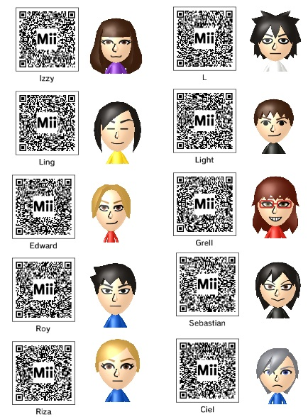 Anime Mii Characters 3ds : Anime mii codes by izzy on deviantart