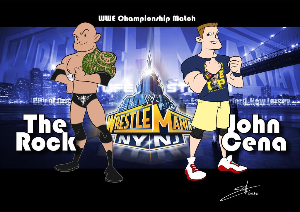 The Rock vs John Cena 2013