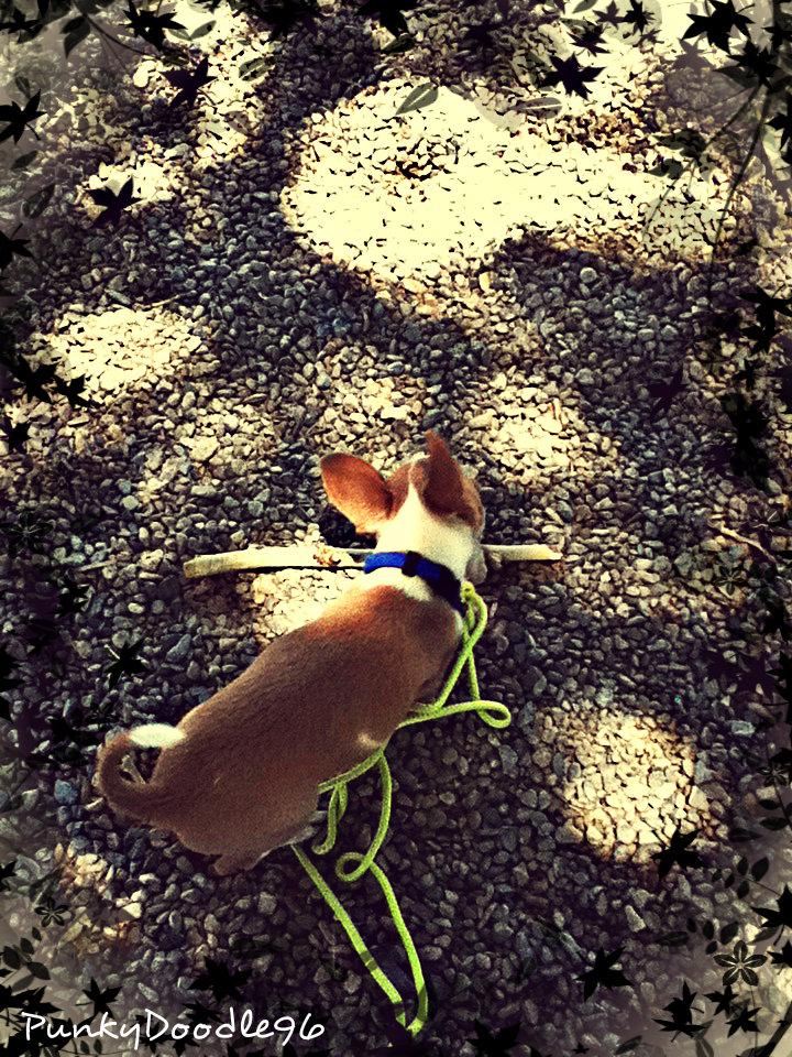 Little Pup Big Stick. by PunkyDoodle96