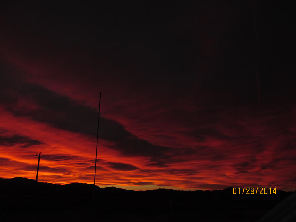 Deep Red Fire in the Sky. by PunkyDoodle96