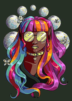 Colorful hair by Hibisco0
