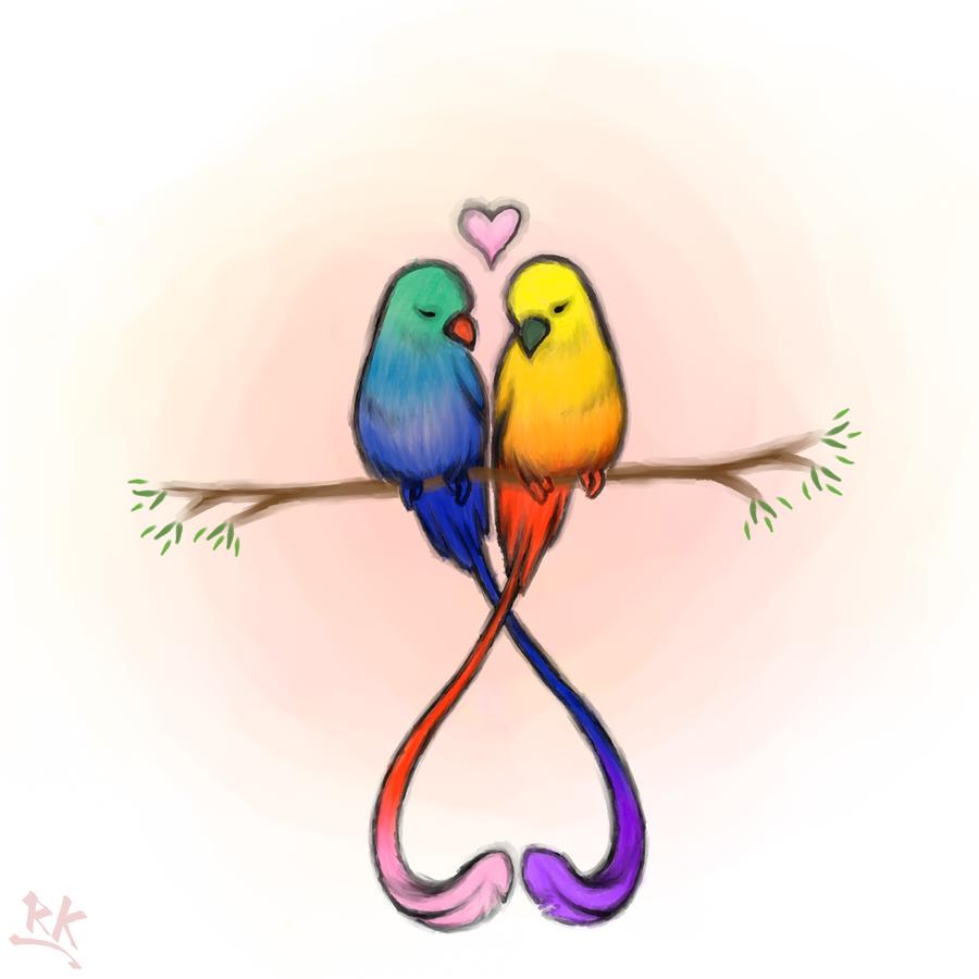 Love bird drawings