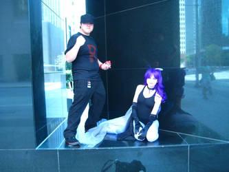 Team Rocket Grunt + Ghastly by Psycorax