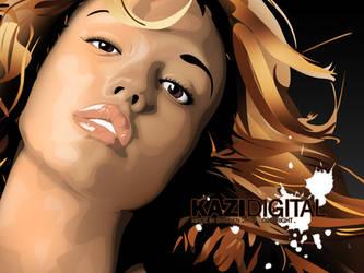Jessica Alba Vexel closeup by kazirules