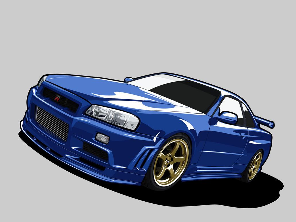 Nissan Skyline R34 by kazirules on DeviantArt