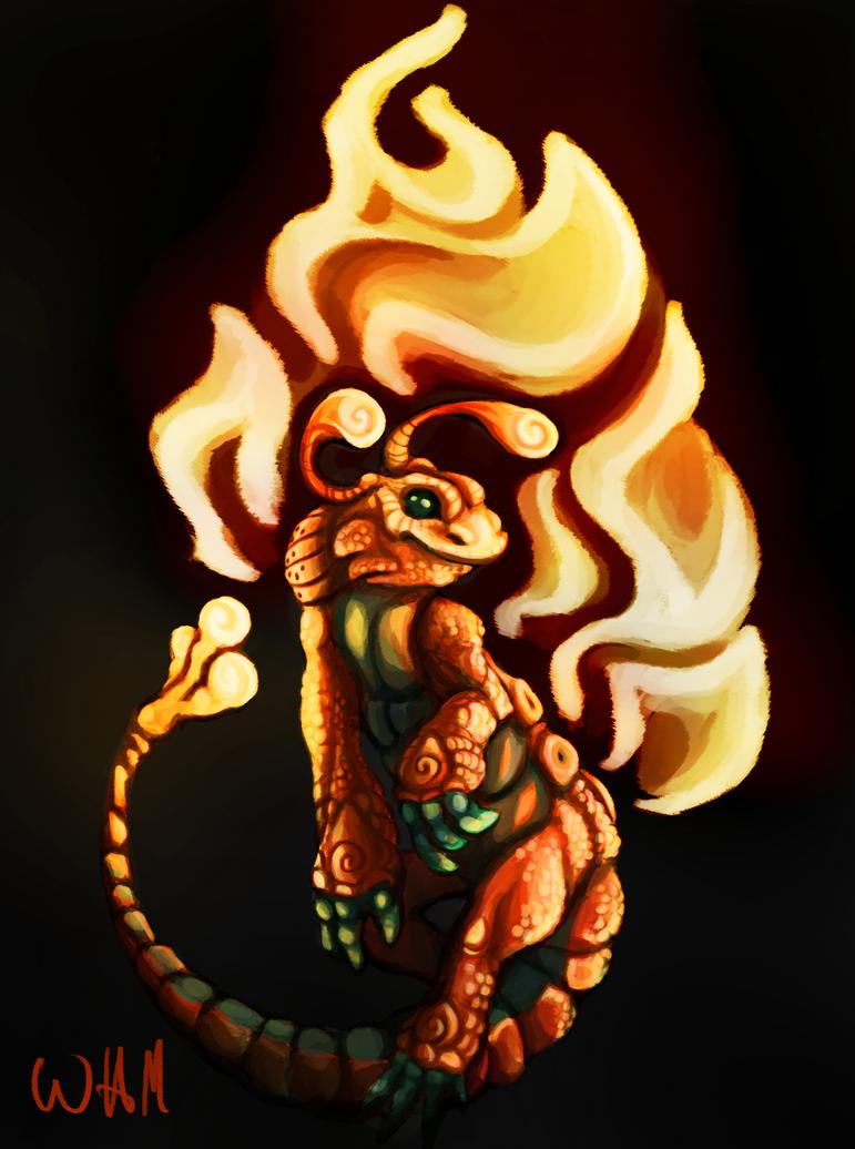 Fire Salamander by Urkenstaff on DeviantArt