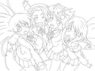 K-on - Lineart by KuroKonekoChan