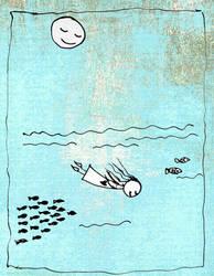 Miss B in 'Deep Blue Sea' by NaHoOo