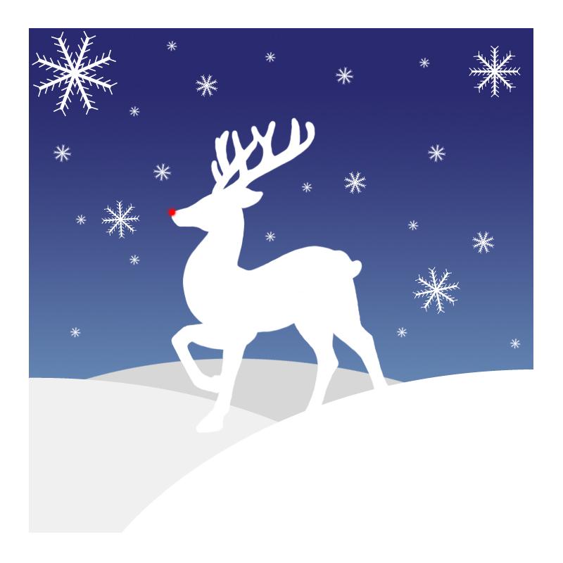 Reindeer Silhouette Reindeer silhouette christmas