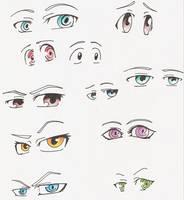 Manga Eyes by SammYJD