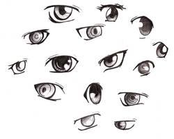 Manga eyes 2 by SammYJD