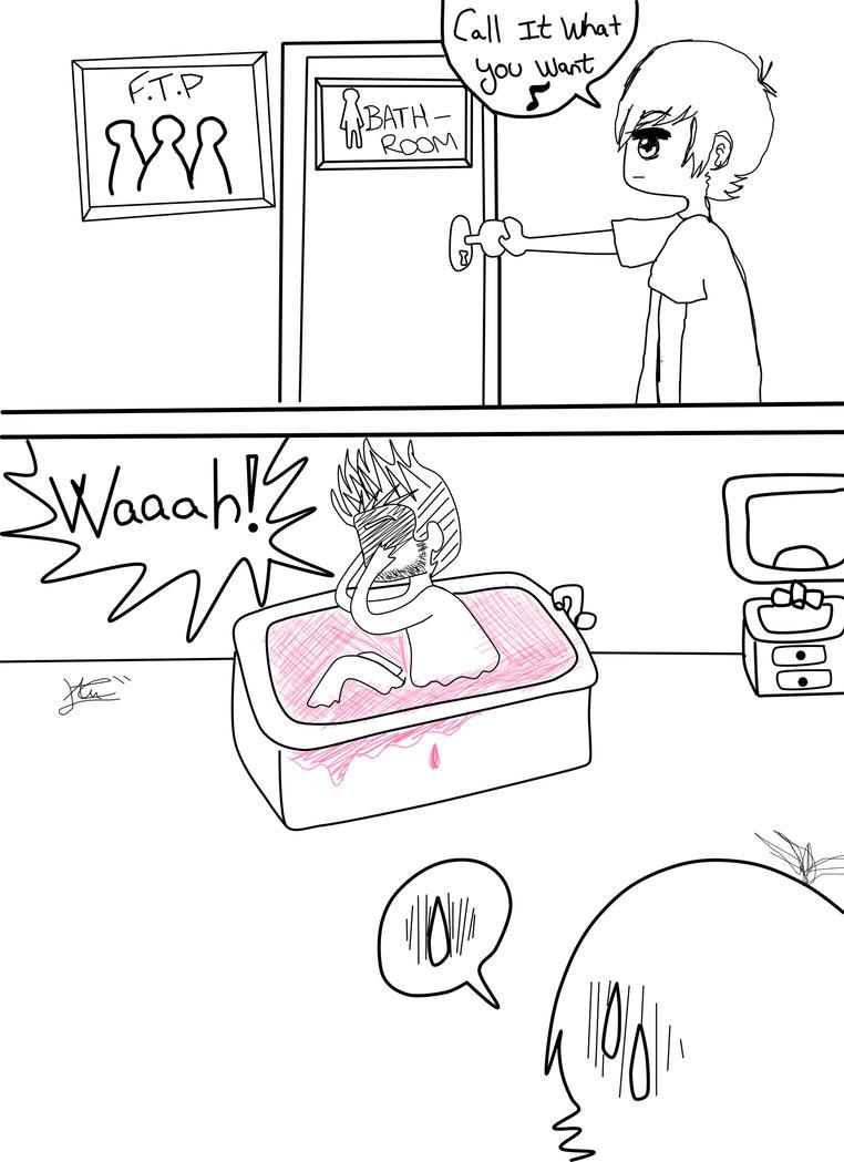 FTP Mini Comic - Cubbie Fink in the bathroom by KHAqua
