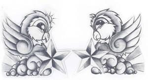 bird tattoo by despisedicon2288