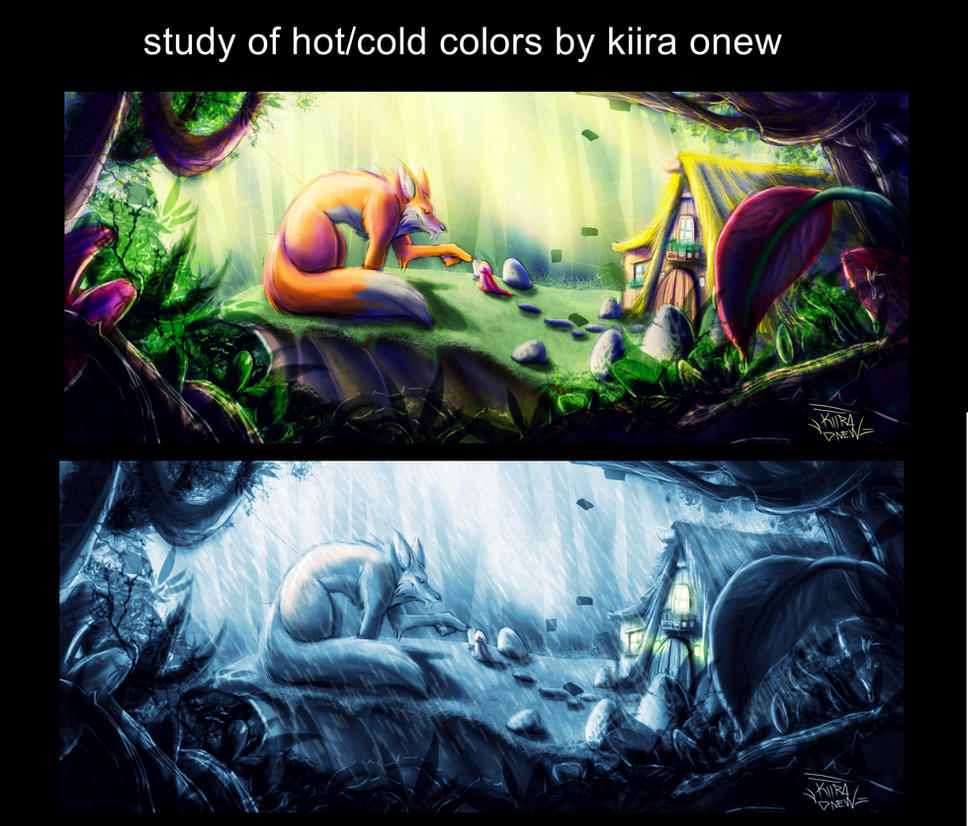 study hot/cold colors by KiiraOnew