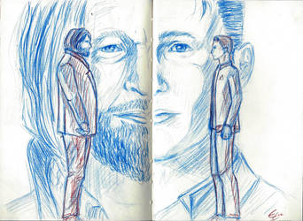 Connor and Hank freinds | Detroit Become Human by ElueTimer-girl