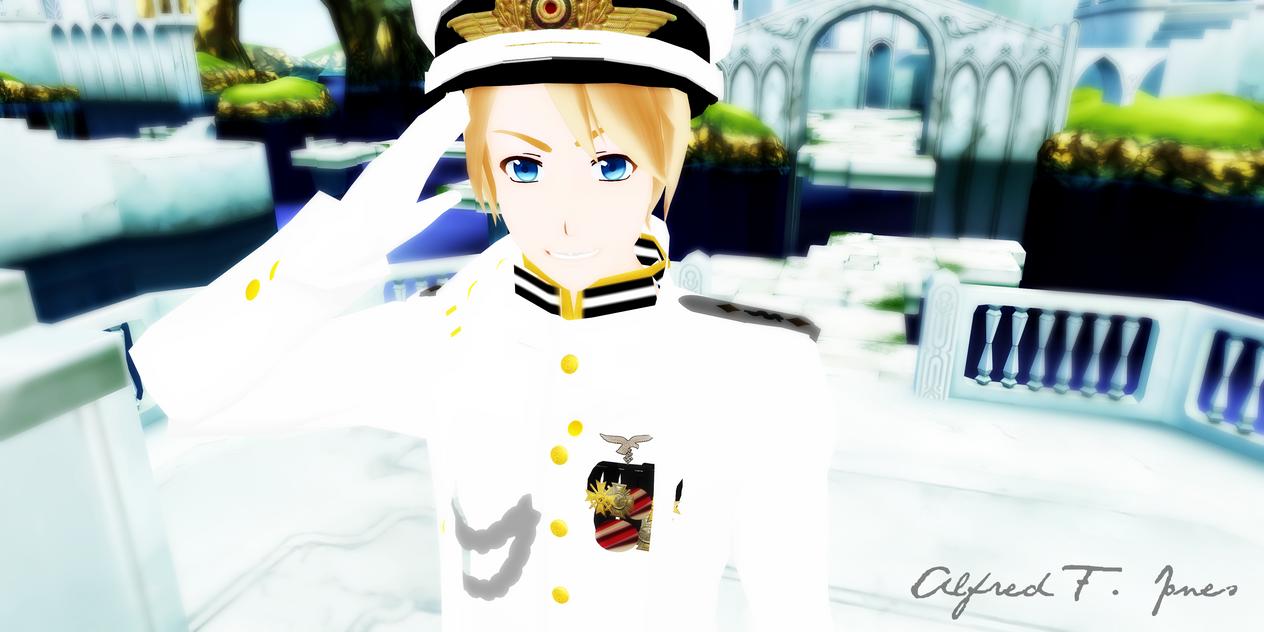 Navy!America: How may I serve you, Ma'am? by 0xWhaii