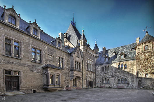 Wernigerode  -  Schlosshof 2   scal.
