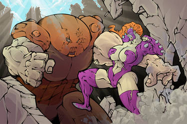 Titania vs Juggernaut by PierreMateus