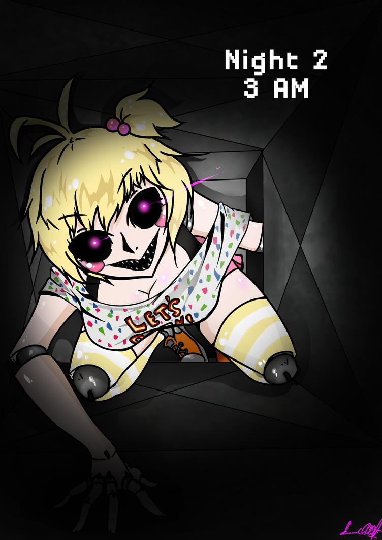 Toy chica in the air vent fnaf 2 please read by spavvy on