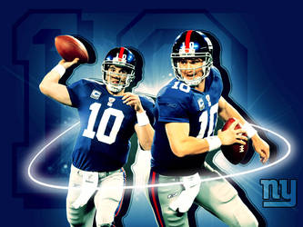 NY Giants - Mannnig Wallpaper by freaky-x