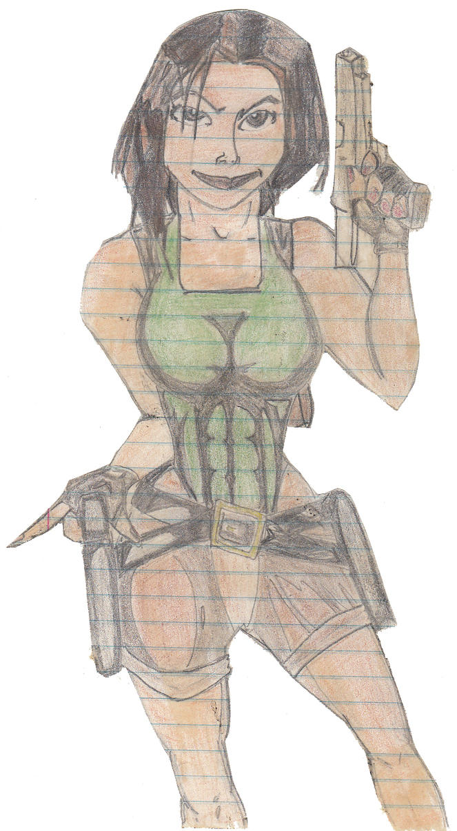 Lara Croft Sketch by GeneralLee678