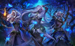 D and D Drow sisters commission illustration