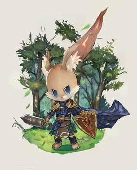 Small bunny adventurer