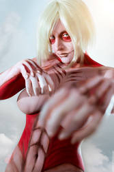 Female Titan. Shingeki no Kyojin by Lleye