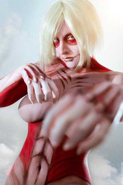 Female Titan. Shingeki no Kyojin by Lleye