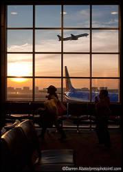 Airport Sunrise by FideNullo