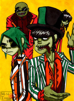 Gorillaz and Jhon the wolf