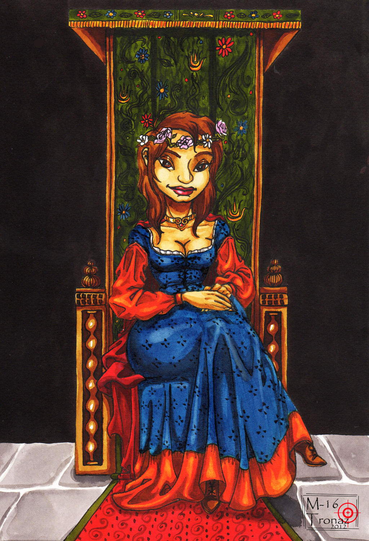 Medieval portrait by M16Tronaz