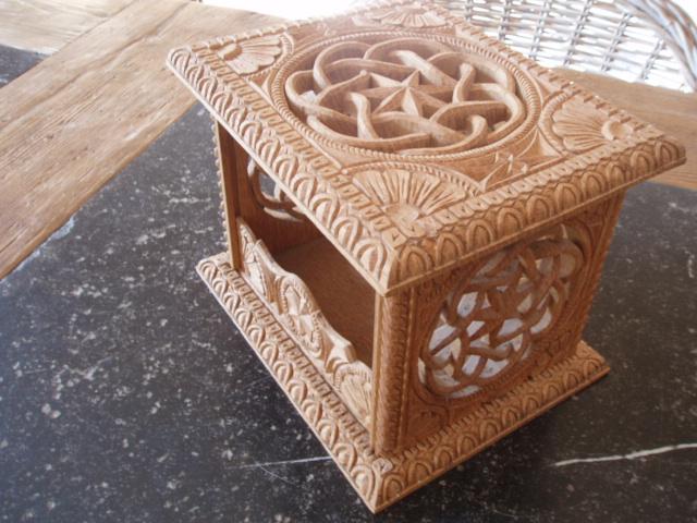 woodcarver footwarmer by woodcarve