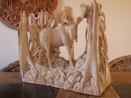 moose in progress 15 by woodcarve