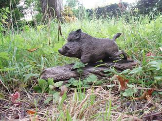 Wild boar by woodcarve