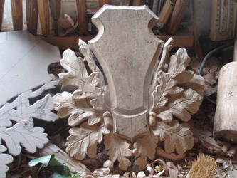 Trophy shield roe by woodcarve