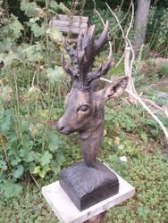 Roebuck woodcarving