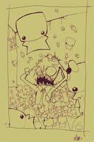 Tiny Cute Pandemonium_lines by quick2004