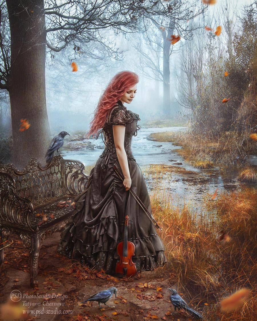 Forgotten in fall by TatyanaChe