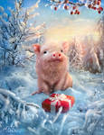 New Year's adventures of a little pig